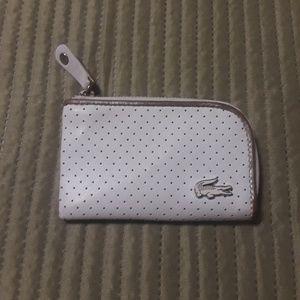 Lacoste Small White Zip Around Wallet